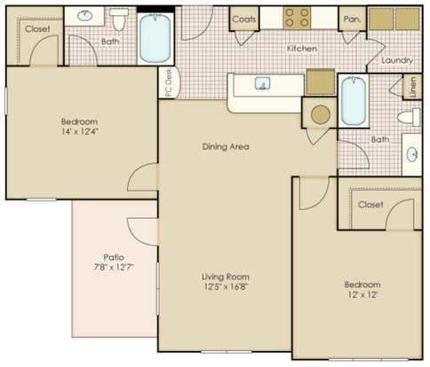 2 Bedrooms 2 Bathrooms Apartment for rent at Legacy At Wakefield in Raleigh, NC