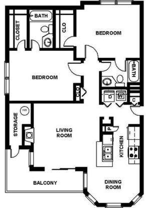 2 Bedrooms 2 Bathrooms Apartment for rent at Arbors Harbor Town in Memphis, TN