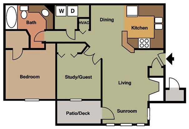 2 Bedrooms 1 Bathroom Apartment for rent at Colony Woods in Birmingham, AL