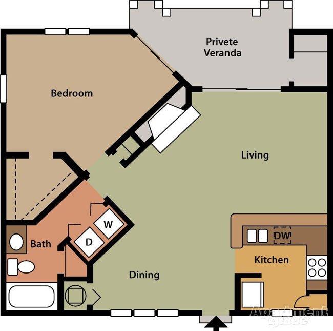 1 Bedroom 1 Bathroom Apartment for rent at Barclay At Dunwoody in Dunwoody, GA