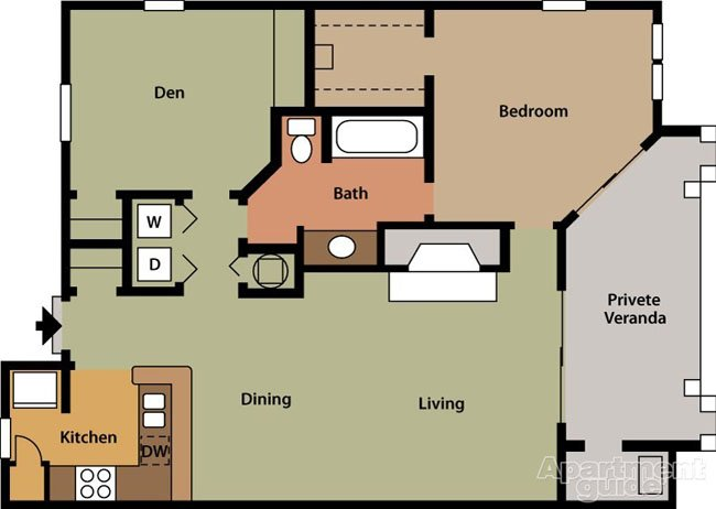 2 Bedrooms 1 Bathroom Apartment for rent at Barclay At Dunwoody in Dunwoody, GA