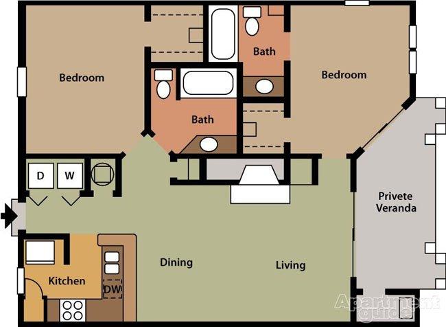 2 Bedrooms 2 Bathrooms Apartment for rent at Barclay At Dunwoody in Dunwoody, GA