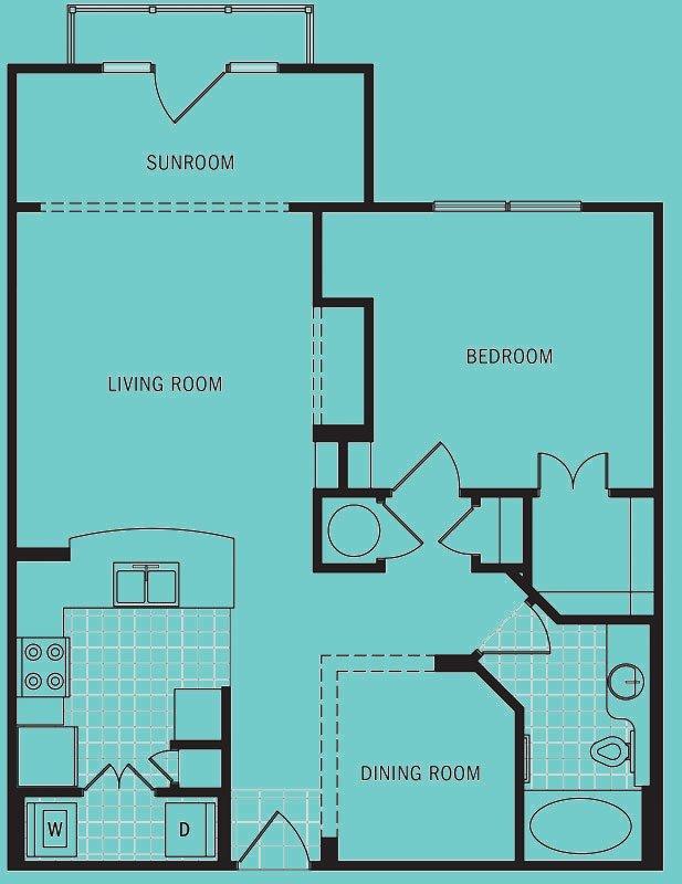 1 Bedroom 1 Bathroom Apartment for rent at Brookleigh Flats in Atlanta, GA