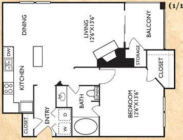 1 Bedroom 1 Bathroom Apartment for rent at Franciscan Of Arlington in Arlington, TX