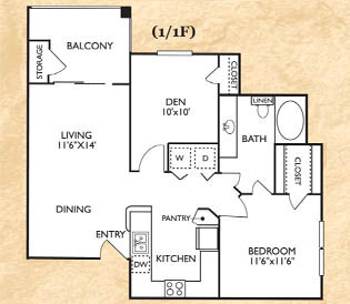 1 Bedroom 1 Bathroom Apartment for rent at Franciscan Of Arlington in Arlington, TX