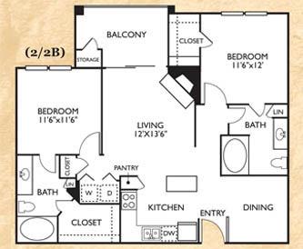 2 Bedrooms 2 Bathrooms Apartment for rent at Franciscan Of Arlington in Arlington, TX