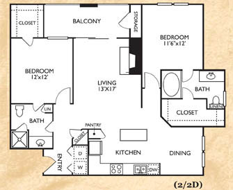 2 Bedrooms 2 Bathrooms Apartment for rent at Franciscan Of Arlington in Arlington, TX