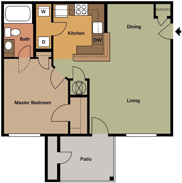1 Bedroom 1 Bathroom Apartment for rent at Village At Broadstone Station in Apex, NC