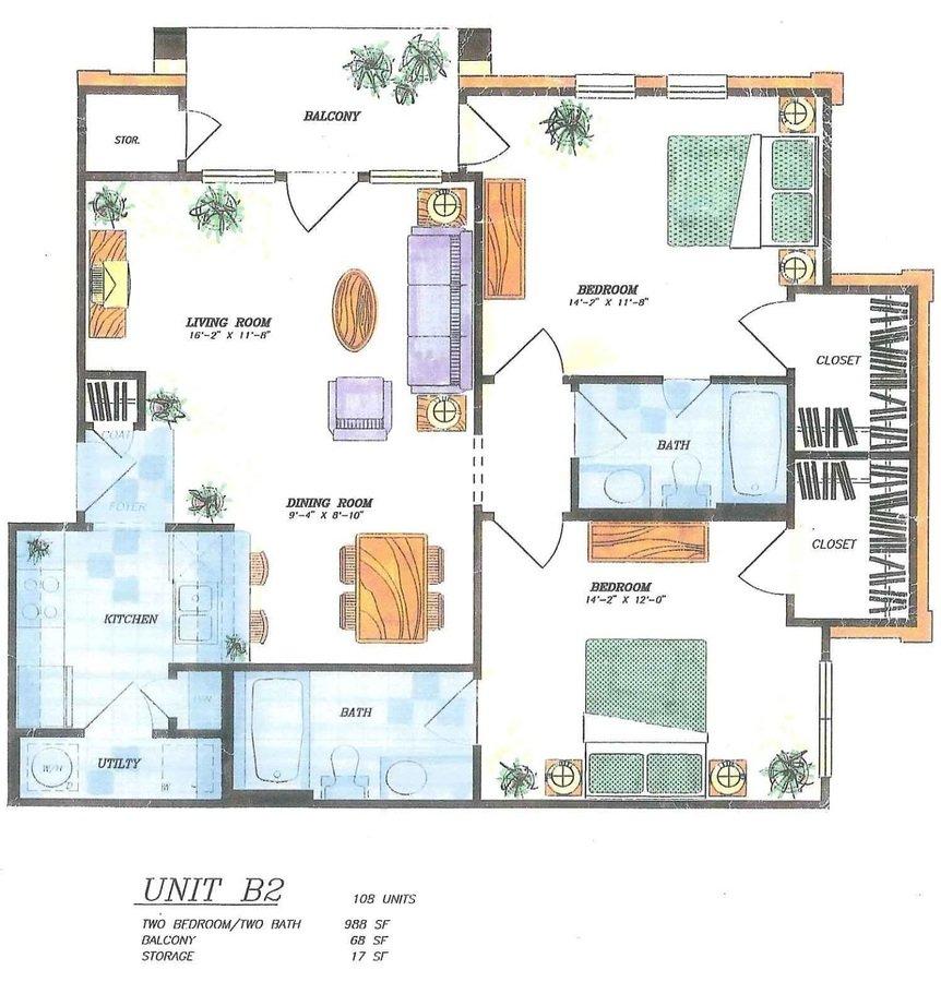 2 Bedrooms 2 Bathrooms Apartment for rent at The Village Of Hampton Cove in San Antonio, TX