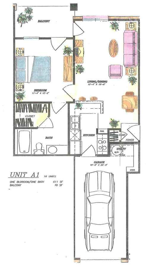 1 Bedroom 1 Bathroom Apartment for rent at The Village Of Hampton Cove in San Antonio, TX