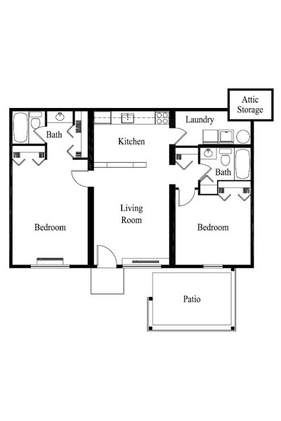 2 Bedrooms 2 Bathrooms Apartment for rent at Woodlands in Columbus, OH