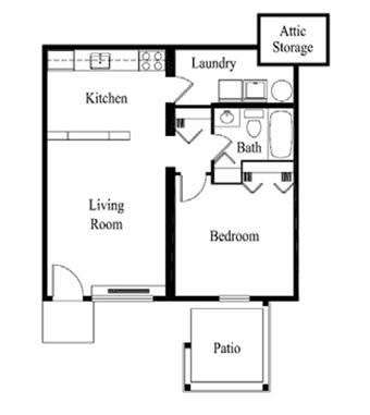 1 Bedroom 1 Bathroom Apartment for rent at Ridgewood in Louisville, KY