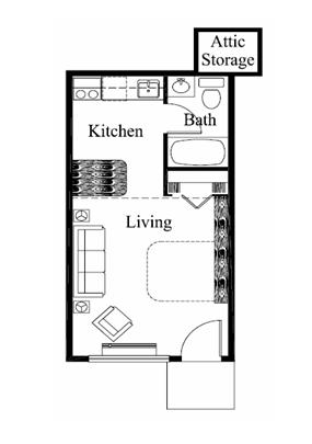 Studio 1 Bathroom Apartment for rent at Roanoke in Louisville, KY