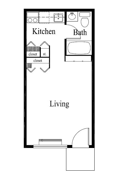 Studio 1 Bathroom Apartment for rent at Rosewood in Louisville, KY