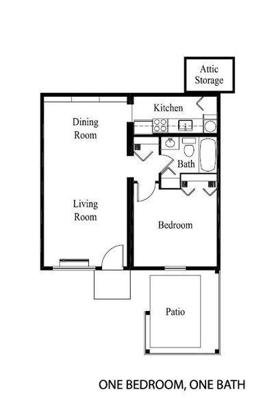 1 Bedroom 1 Bathroom Apartment for rent at Rosewood in Louisville, KY