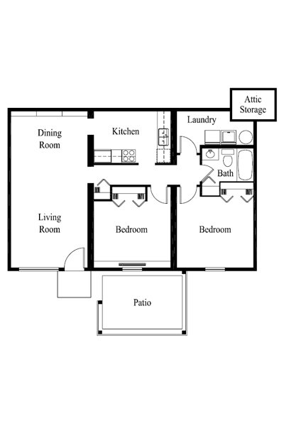2 Bedrooms 1 Bathroom Apartment for rent at Rosewood in Louisville, KY