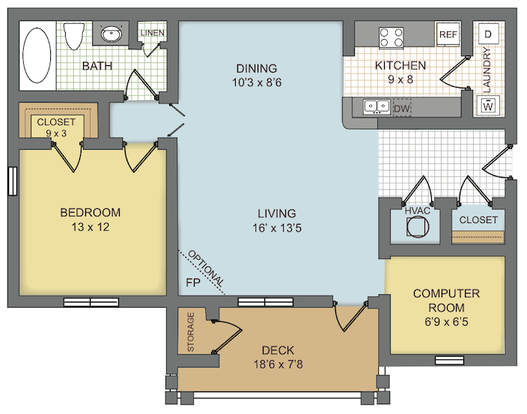 1 Bedroom 1 Bathroom Apartment for rent at Preserve At Brier Creek in Raleigh, NC