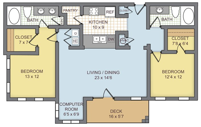 2 Bedrooms 2 Bathrooms Apartment for rent at Preserve At Brier Creek in Raleigh, NC