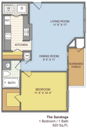 1 Bedroom 1 Bathroom Apartment for rent at The Paddock Club Gainesville in Gainesville, FL