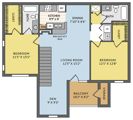 2 Bedrooms 2 Bathrooms Apartment for rent at Colonial Grand At Mallard Creek in Charlotte, NC