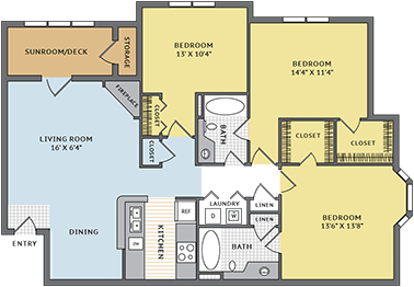3 Bedrooms 2 Bathrooms Apartment for rent at Colonial Grand At Riverchase Trails in Birmingham, AL