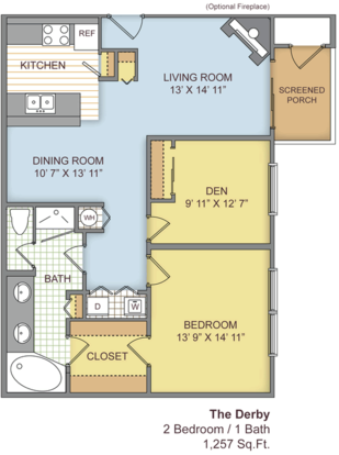 2 Bedrooms 1 Bathroom Apartment for rent at The Paddock Club Gainesville in Gainesville, FL