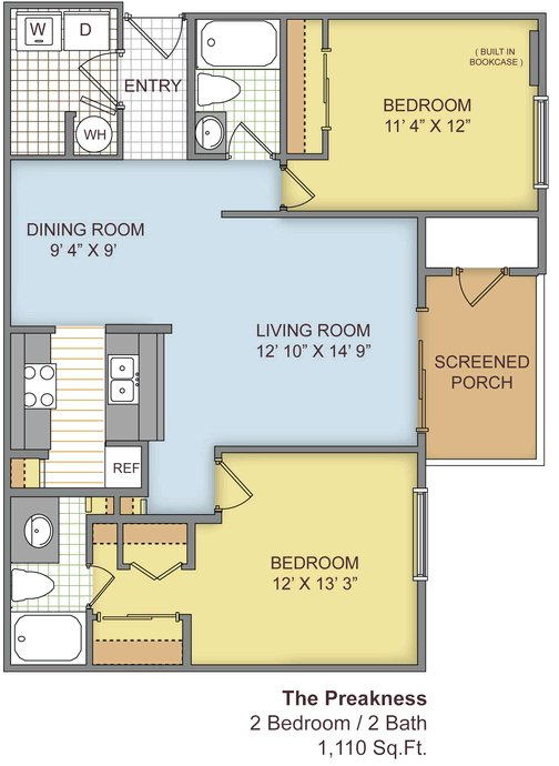 2 Bedrooms 2 Bathrooms Apartment for rent at The Paddock Club Gainesville in Gainesville, FL