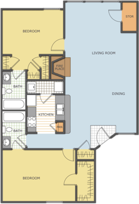 2 Bedrooms 2 Bathrooms Apartment for rent at Lakepointe in Lexington, KY