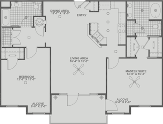 2 Bedrooms 2 Bathrooms Apartment for rent at Enclave in Charlotte, NC