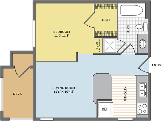 Studio 1 Bathroom Apartment for rent at Colonial Grand At Research Park in Durham, NC