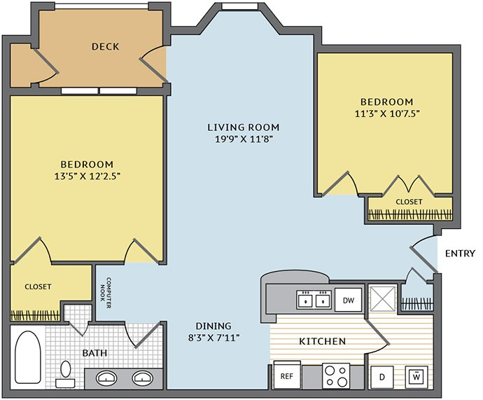 2 Bedrooms 1 Bathroom Apartment for rent at Colonial Grand At Research Park in Durham, NC