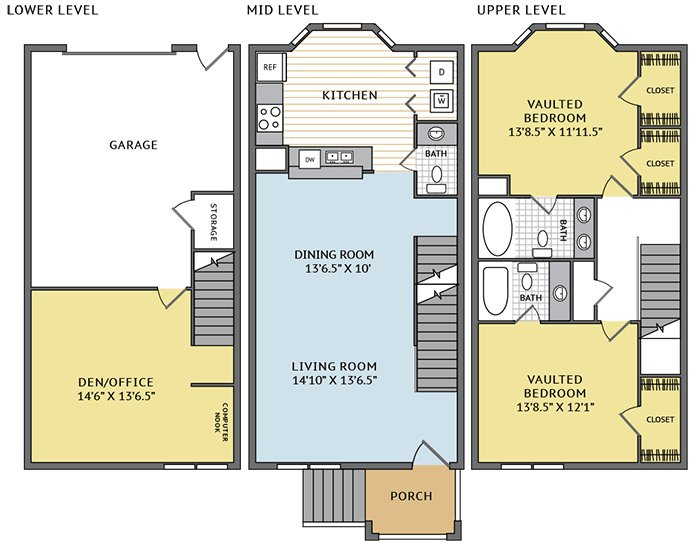 2 Bedrooms 2 Bathrooms Apartment for rent at Colonial Grand At Research Park in Durham, NC
