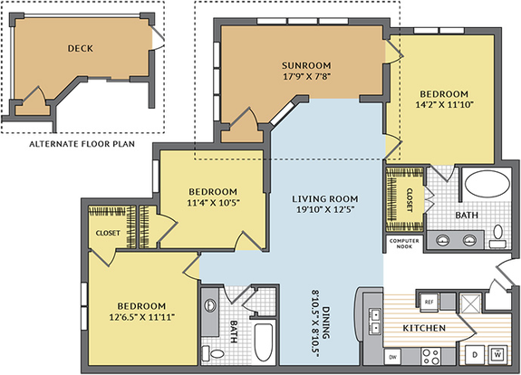 3 Bedrooms 2 Bathrooms Apartment for rent at Colonial Grand At Research Park in Durham, NC