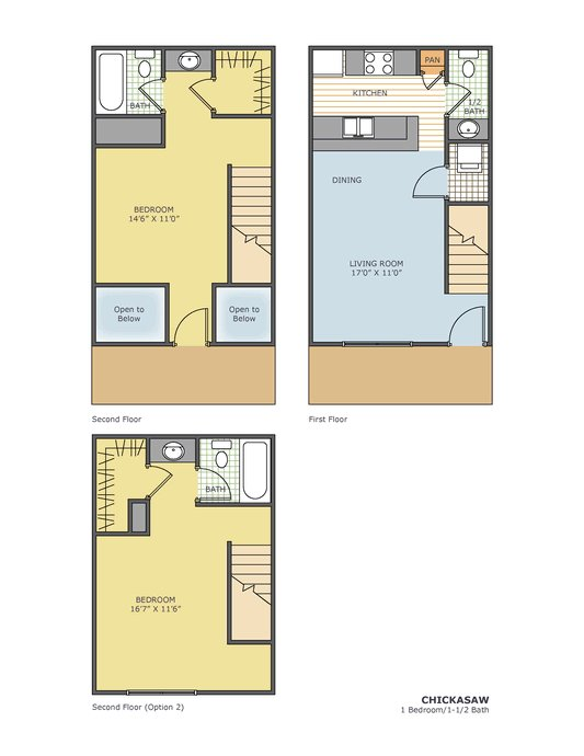 1 Bedroom 2 Bathrooms Apartment for rent at Kirby Station in Memphis, TN