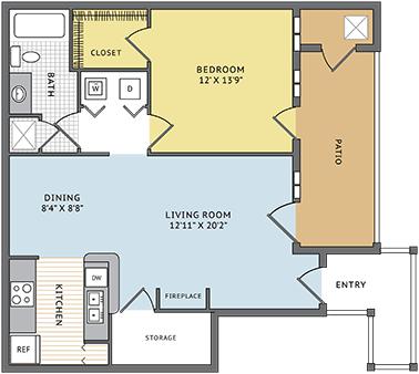 1 Bedroom 1 Bathroom Apartment for rent at Colonial Grand At Liberty Park in Vestavia Hills, AL