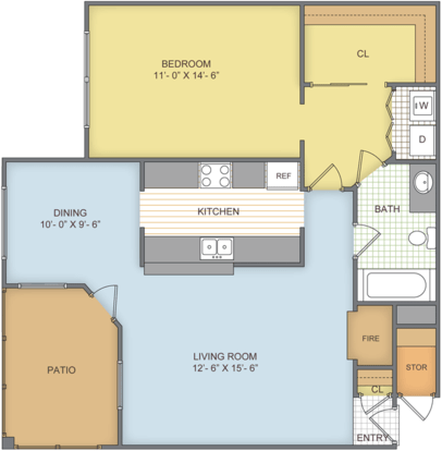 1 Bedroom 1 Bathroom Apartment for rent at Eagle Ridge in Birmingham, AL