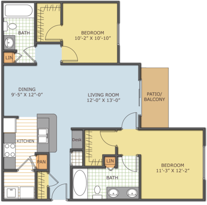 2 Bedrooms 2 Bathrooms Apartment for rent at The Retreat At Magnolia Parke in Gainesville, FL