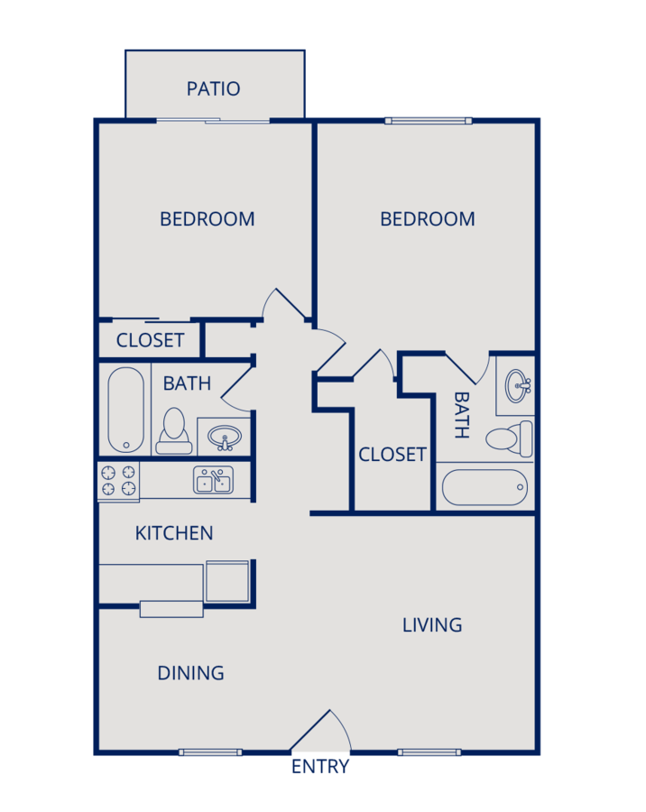 2 Bedrooms 2 Bathrooms Apartment for rent at Hillside Canyon Apartments in San Antonio, TX