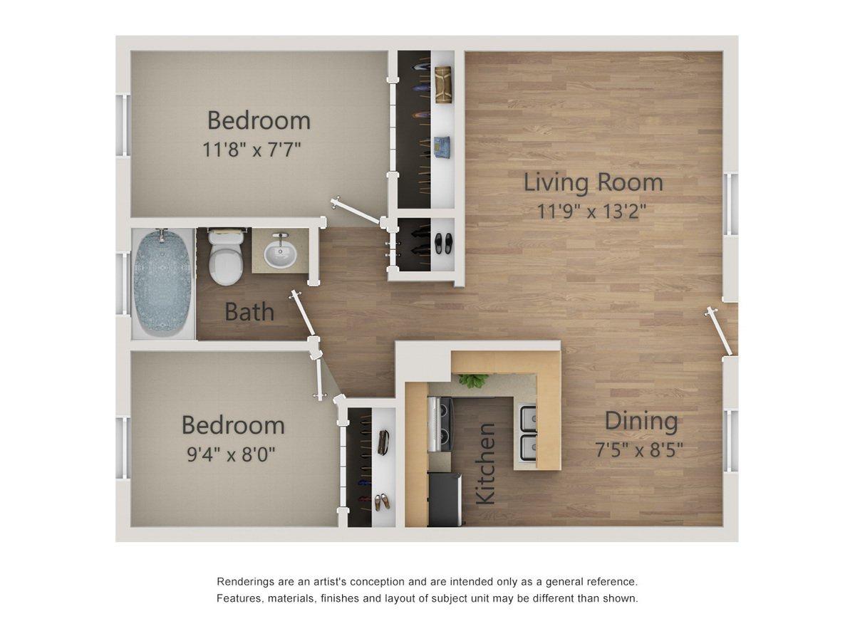 2 Bedrooms 1 Bathroom Apartment for rent at Morgan Manor Apartments in San Antonio, TX