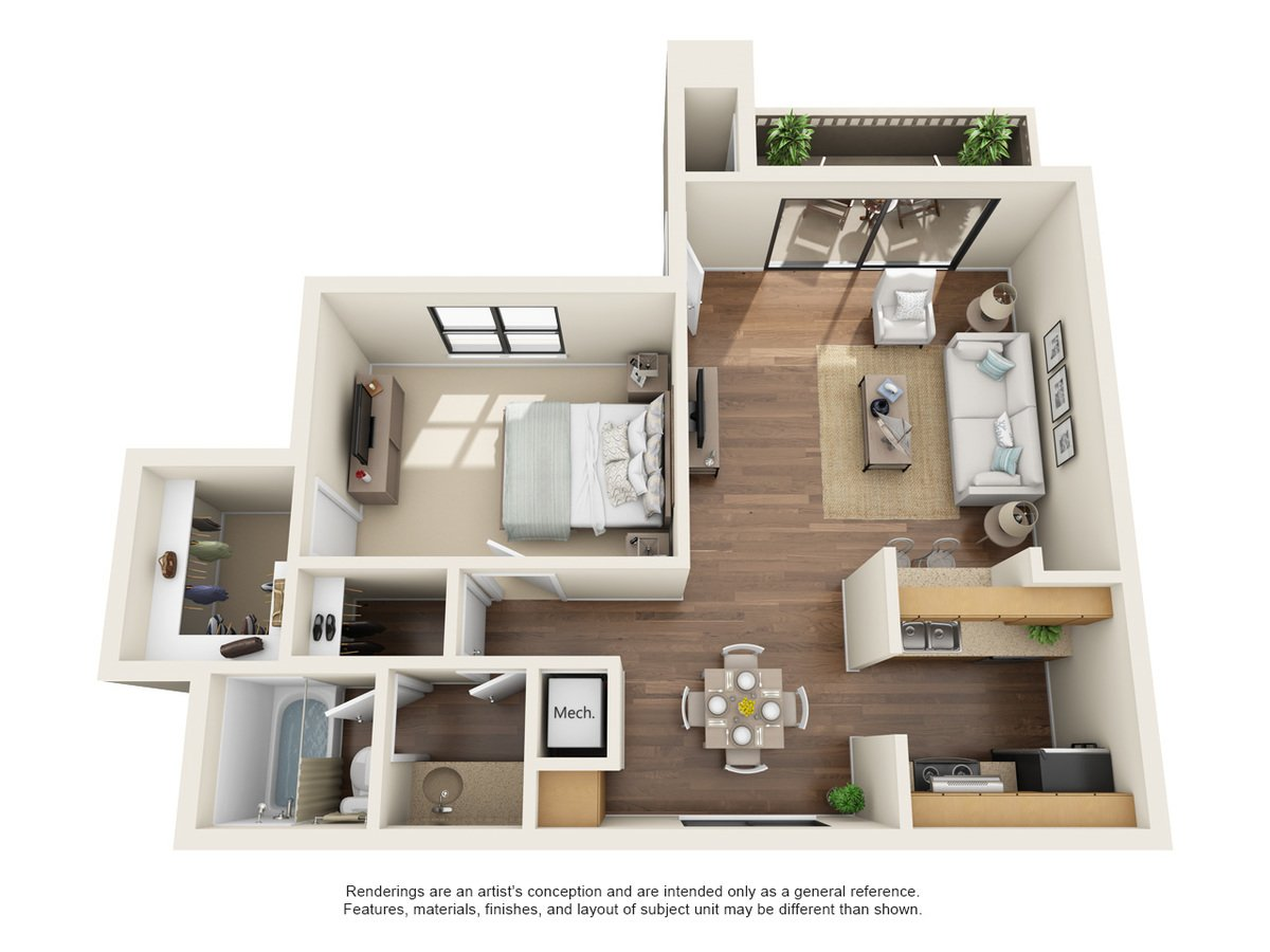 1 Bedroom 1 Bathroom Apartment for rent at Oakstone Apartment Homes in San Antonio, TX
