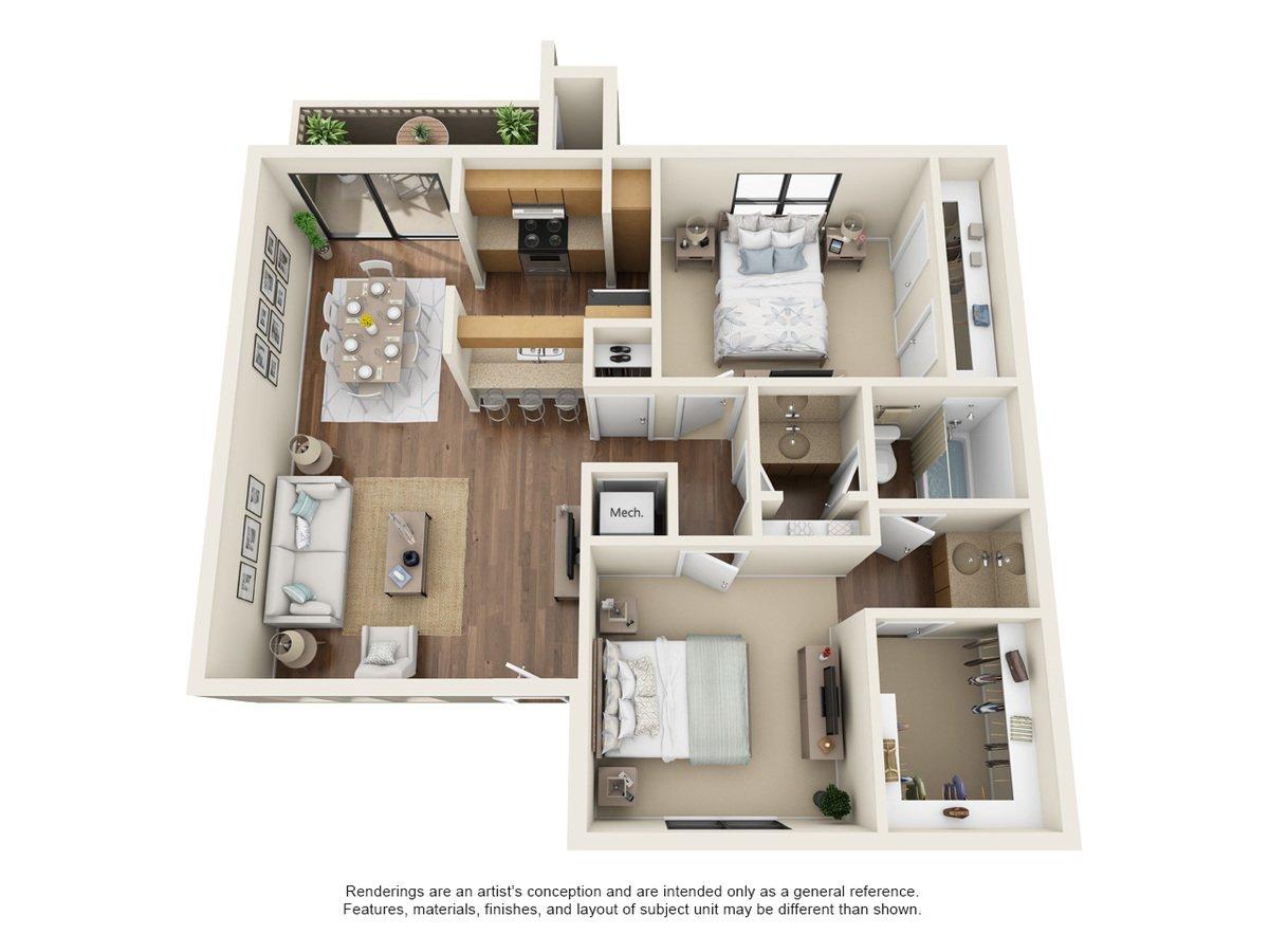 2 Bedrooms 1 Bathroom Apartment for rent at Oakstone Apartment Homes in San Antonio, TX