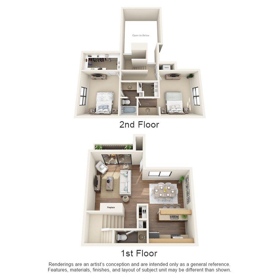 2 Bedrooms 2 Bathrooms Apartment for rent at Oakstone Apartment Homes in San Antonio, TX