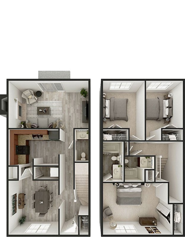 3 Bedrooms 2 Bathrooms Apartment for rent at The Reserve At Merrick in Lexington, KY