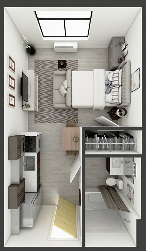 Studio 1 Bathroom Apartment for rent at Studios180 in Lexington, KY