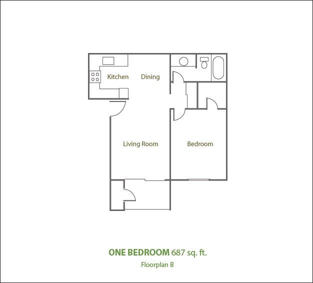 1 Bedroom 1 Bathroom Apartment for rent at Sierra Pines Apartments in Phoenix, AZ