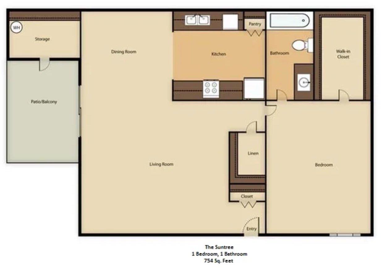 1 Bedroom 1 Bathroom Apartment for rent at Glenrosa Park in Phoenix, AZ