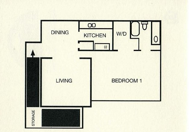 1 Bedroom 1 Bathroom Apartment for rent at Wildwood Apartment Homes in Birmingham, AL