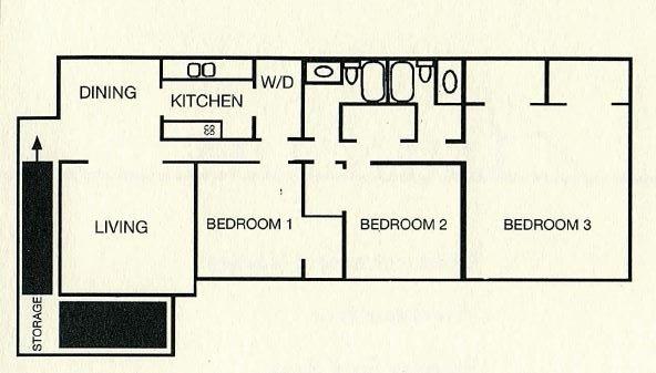3 Bedrooms 2 Bathrooms Apartment for rent at Wildwood Apartment Homes in Birmingham, AL