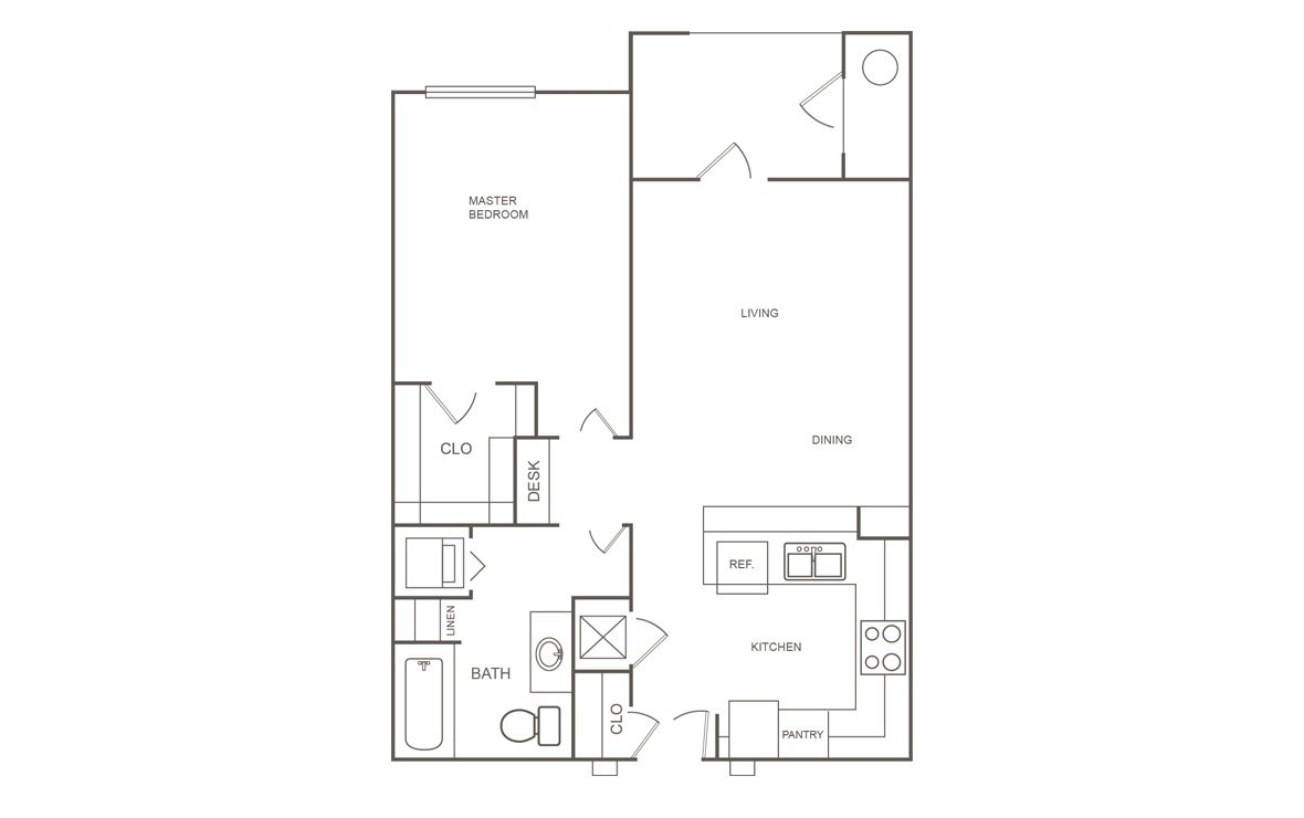 1 Bedroom 1 Bathroom Apartment for rent at Orchard Park At Willowbrook in Houston, TX