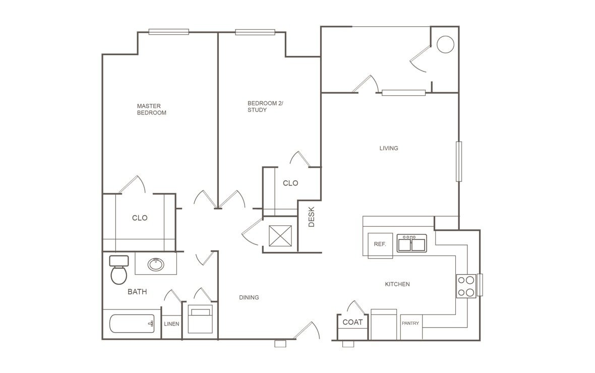 2 Bedrooms 1 Bathroom Apartment for rent at Orchard Park At Willowbrook in Houston, TX